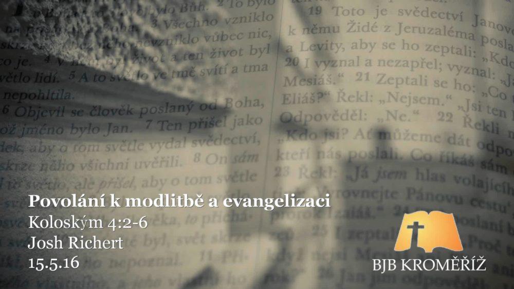 Povolání k modlitbě a evangelizaci Image