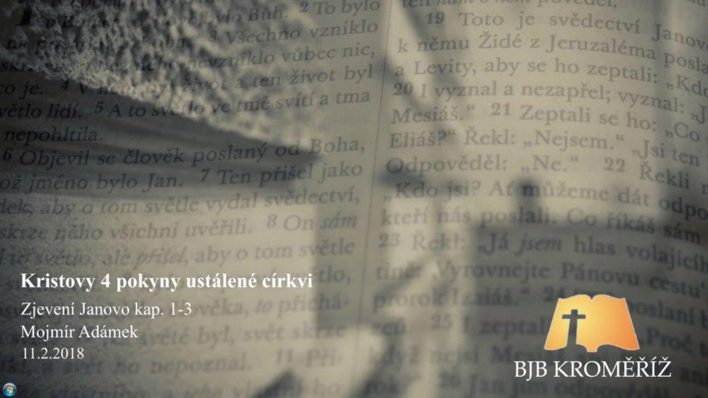 4 Kristovy pokyny ustálené církvi Image