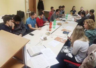 First meeting of the newly established bible study group in the region of Silesia (about 2 hours from our church). We pray that it might grow into a local church.